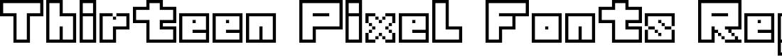 Preview image for Thirteen Pixel Fonts Regular