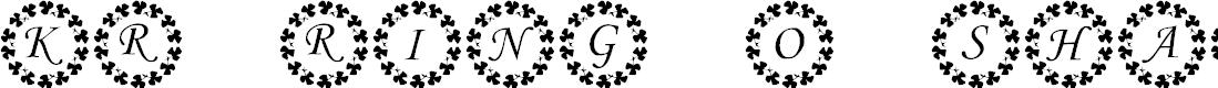 Preview image for KR Ring O' Shams Font