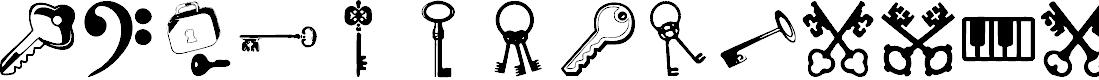 Preview image for Samys Keys'N'Keys Font