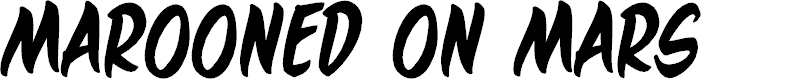 Preview image for MaroonedOnMarsBB Font