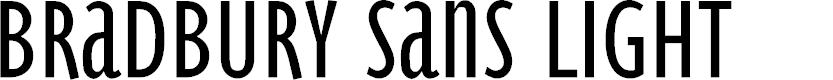 Preview image for BradburySans-Light Font