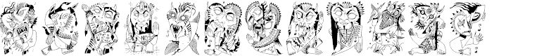 Preview image for Z-Most Devil Font