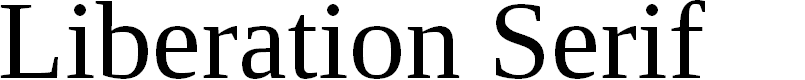 Preview image for Liberation Serif