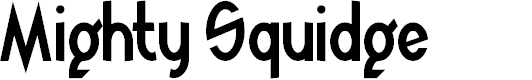 Preview image for Mighty Squidge Font