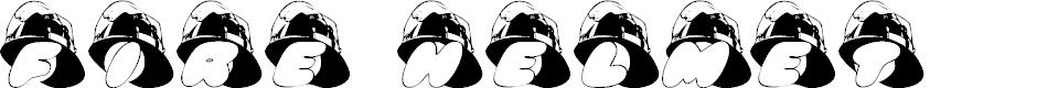 Preview image for AL Fire Helmet Font