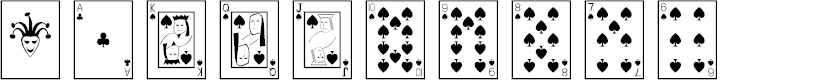 Preview image for Playing Cards Font