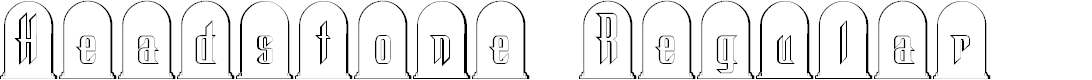 Preview image for Headstone Regular Font