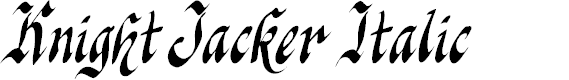 Preview image for Knight Jacker Italic Font