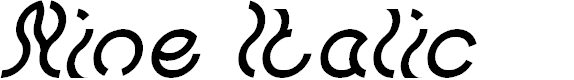 Preview image for Nine Italic