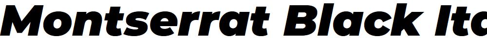 Preview image for Montserrat Black Italic