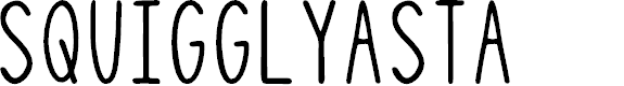 Preview image for SquigglyAsta Font