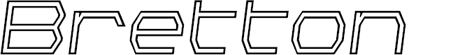 Preview image for Bretton Outline Semi-Italic