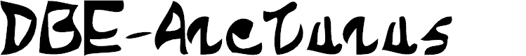 Preview image for DBE-Arcturus Font