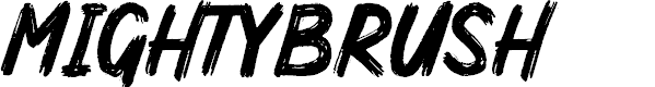 Preview image for MightyBrush Font