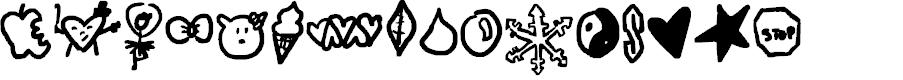 Preview image for symbols rock Font