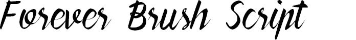 Preview image for Forever Brush Script