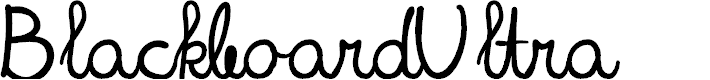 Preview image for BlackboardUltra Font
