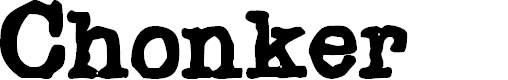 Preview image for Chonker Font