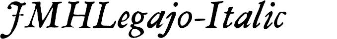 Preview image for JMHLegajo-Italic