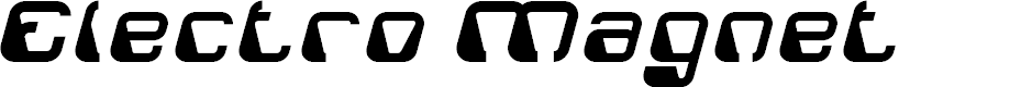 Preview image for Electro Magnet Font