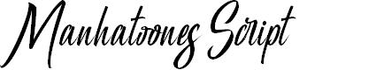 Preview image for Manhatoones Script Font