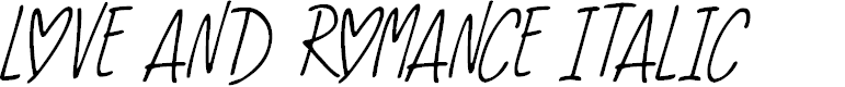 Preview image for Love And Romance Italic