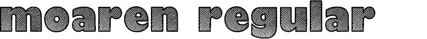 Preview image for Moaren Regular Font