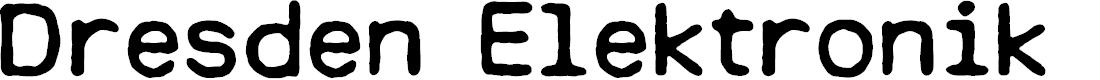 Preview image for Dresden Elektronik Font
