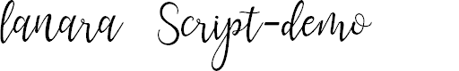 Preview image for lanara Script-demo Font