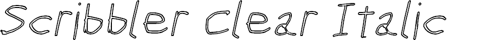 Preview image for Scribbler Clear Italic