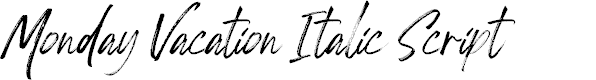 Preview image for Monday Vacation Italic Script