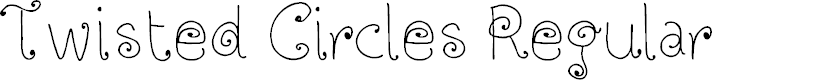 Preview image for Twisted Circles Regular Font
