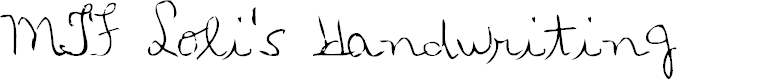 Preview image for MTF Loli's Handwriting