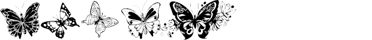Preview image for Destiny's Butterfly Dingbats Font