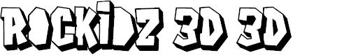Preview image for Rockidz 3D 3D Font