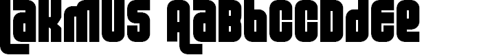 Preview image for Lakmus  Fenotype Font