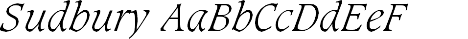 Preview image for Sudbury Light Italic
