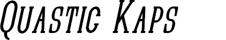 Preview image for Quastic Kaps Narrow Italic