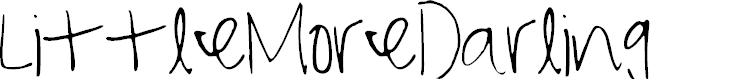 Preview image for LittleMoreDarling Font