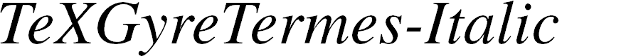 Preview image for TeXGyreTermes-Italic