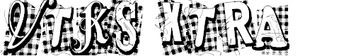 Preview image for VTKS Xtra Font