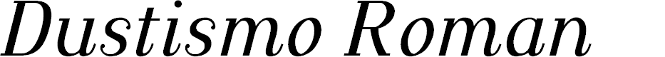 Preview image for Dustismo Roman Italic