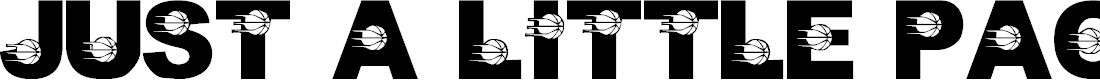 Preview image for LMS Just A Little Pacers Fan Font
