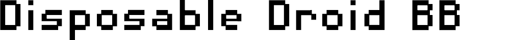 Preview image for DisposableDroidBB Font
