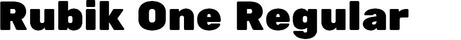 Preview image for Rubik One Regular Font