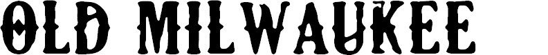 Preview image for CF Old Milwaukee Regular Font