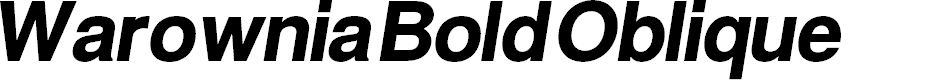 Preview image for Warownia Bold Oblique