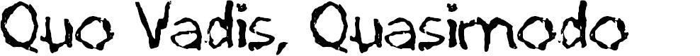 Preview image for Quo Vadis, Quasimodo Font