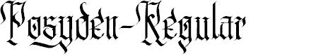 Preview image for Posyden-Regular Font