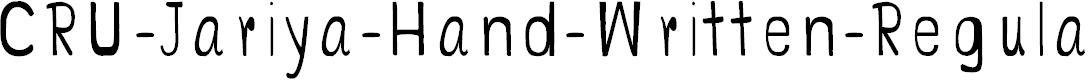 Preview image for CRU-Jariya-Hand-Written-Regular Font